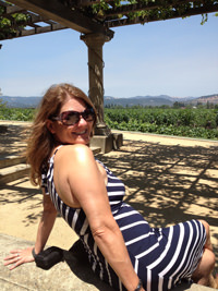 Laure in the Napa Valley
